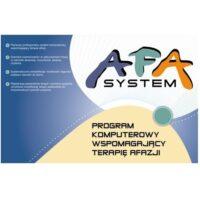 AfaSystem - zestaw programów komputerowych wspomagających rehabilitację chorych z afazją